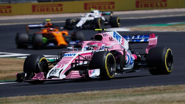 Esteban Ocon - Force India - GP England - Silverstone - Formel 1 - Freitag - 6.7.2018