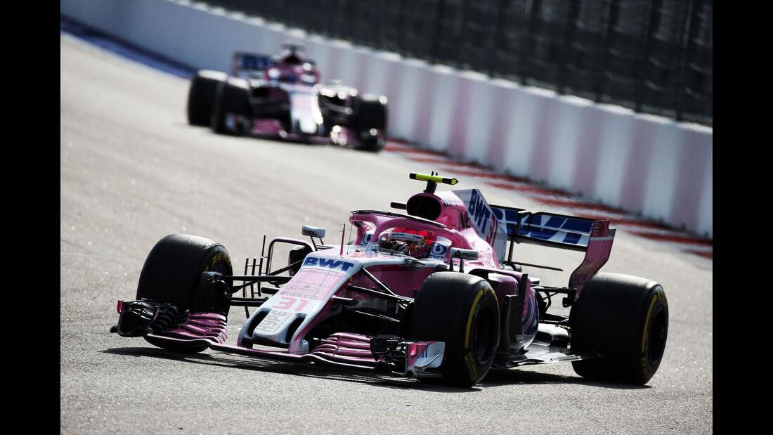 Esteban Ocon - Force India - GP Russland 2018 - Sotschi - Rennen