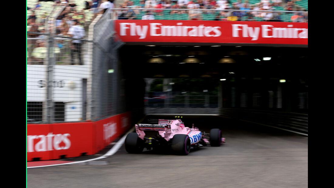 Esteban Ocon - Force India - GP Singapur - Formel 1 - Freitag - 15.9.2017