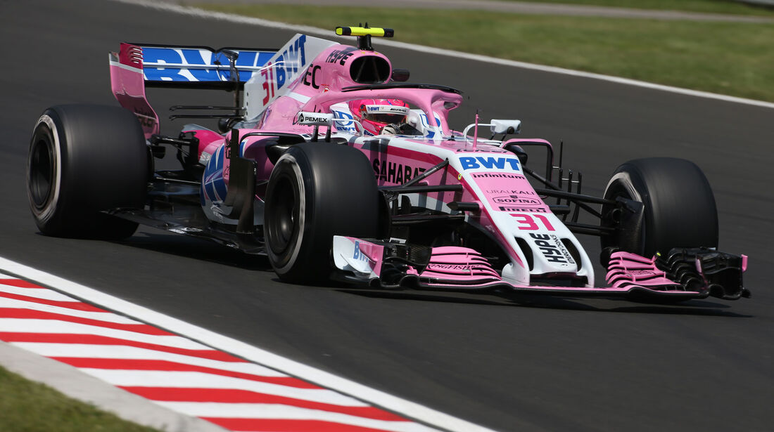 Esteban Ocon - Force India - GP Ungarn - Budapest - Formel 1 - 27.7.2018