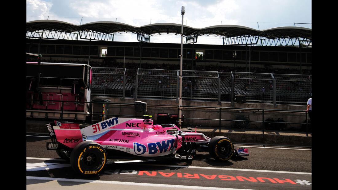 Esteban Ocon - Force India - GP Ungarn - Budapest - Formel 1 - Freitag - 27.7.2018