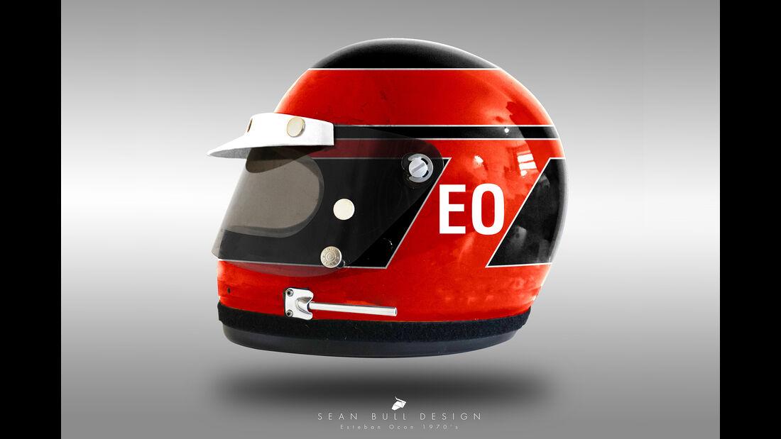 Esteban Ocon - Formel 1 - Retro-Helme - Sean Bull - 2018