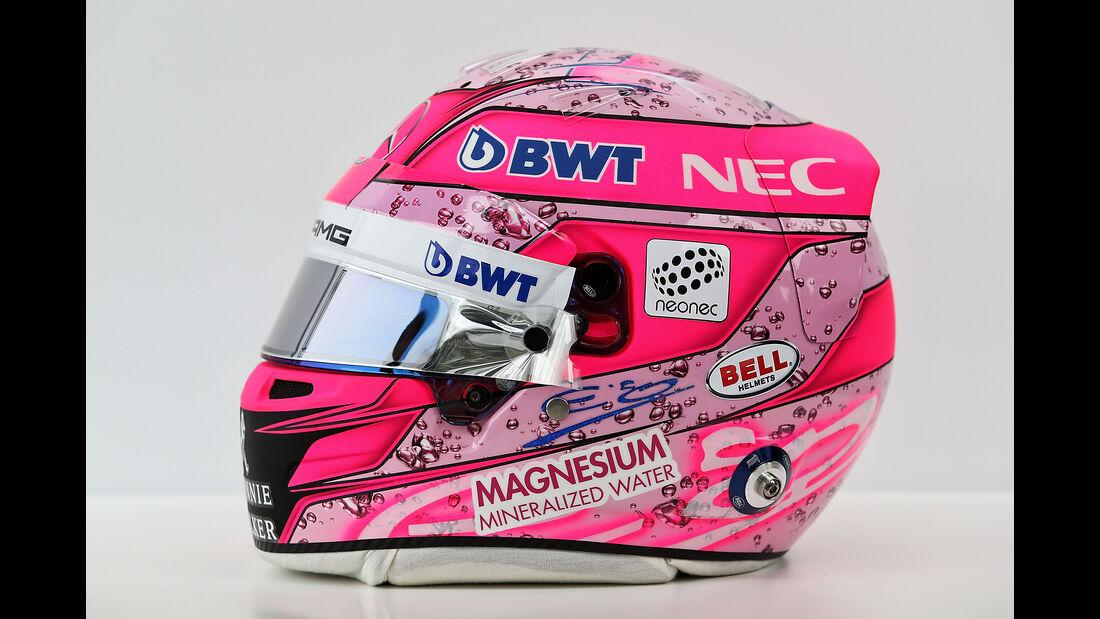 Esteban Ocon - Helm - Formel 1 - 2017