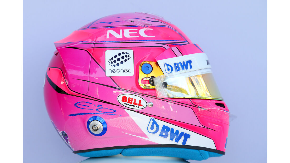 Esteban Ocon - Helm - Formel 1 - 2018
