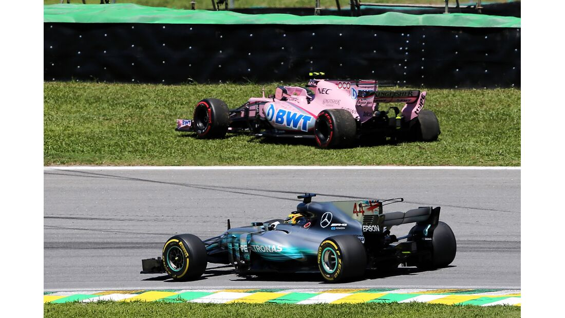Esteban Ocon - Lewis Hamilton - Formel 1 - GP Brasilien - 12. November 2017