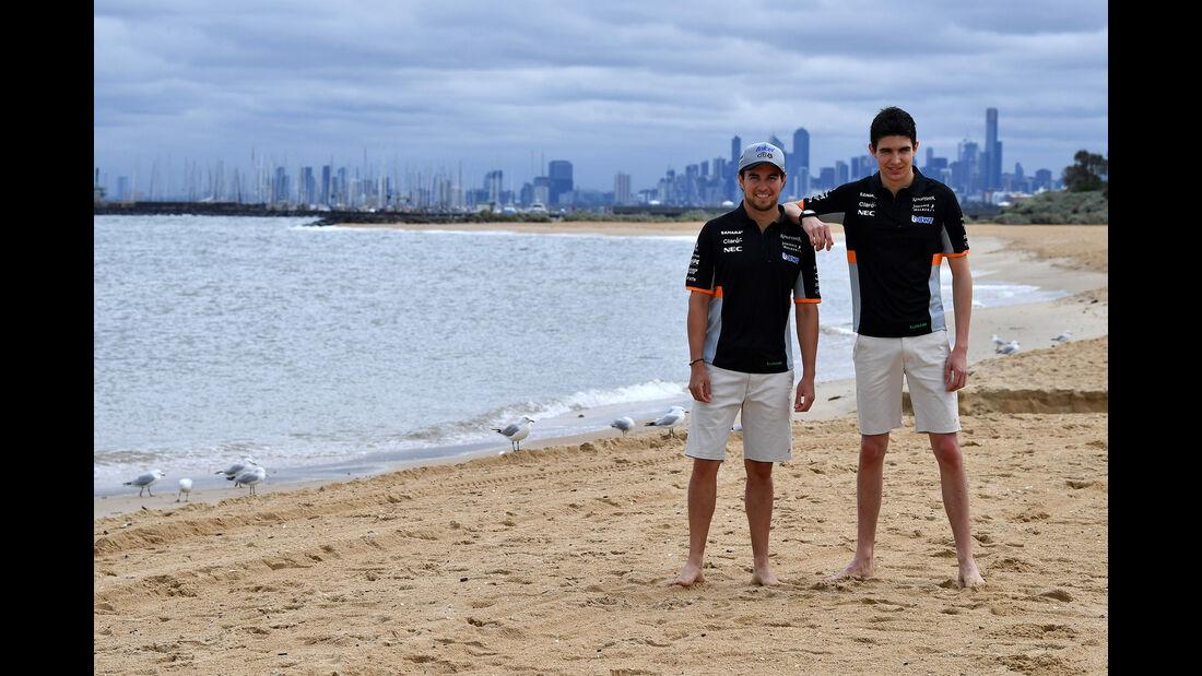 Esteban Ocon & Sergio Perez  - Force India - Formel 1 - GP Australien - Melbourne - 22. März 2017