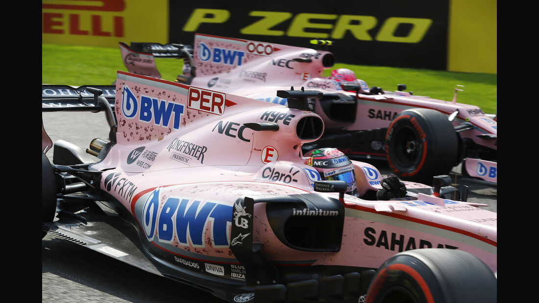Esteban Ocon & Sergio Perez - Force India - GP Belgien 2017