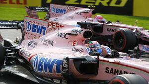 Esteban Ocon & Sergio Perez - Force India - GP Belgien 2017
