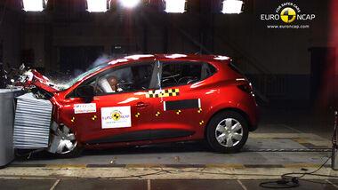 EuroNCAP-Crahtest Renault Clio Frontal