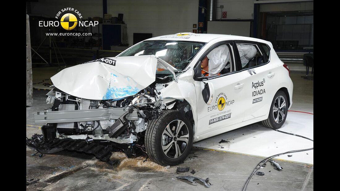 EuroNCAP Crashest Nissan Pulsar