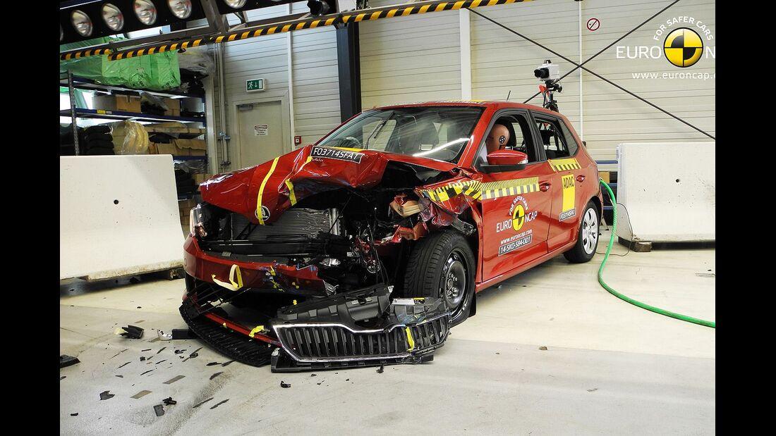 EuroNCAP Crashest Skoda Fabia