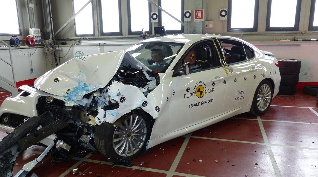 EuroNCAP-Crashtest 2016 Alfa Giulia