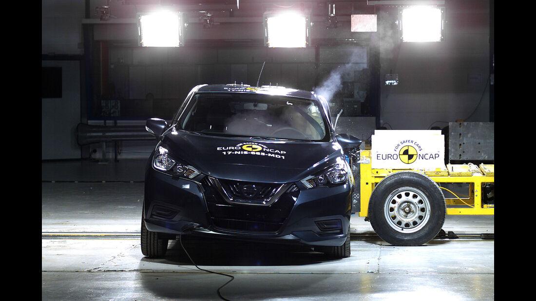 EuroNCAP-Crashtest 2017 Nissan Micra