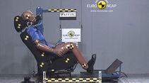 EuroNCAP-Crashtest Citroen C4, Heckaufprall-Crashtest