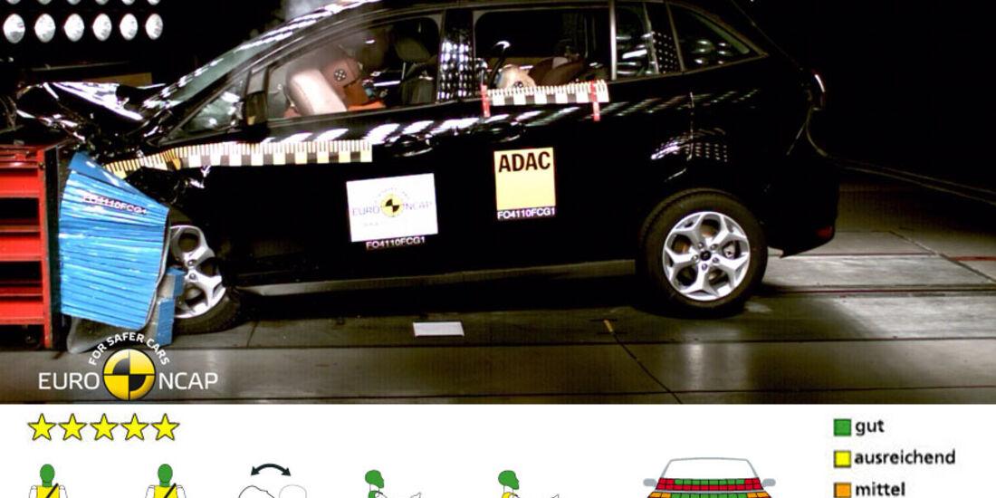 EuroNCAP-Crashtest, Ford Grand C-Max, Frontal-Crashtest