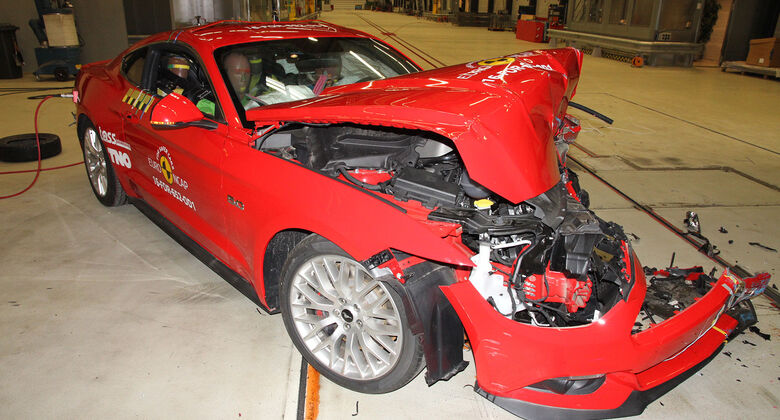 EuroNCAP-Crashtest Ford Mustang Nachtest