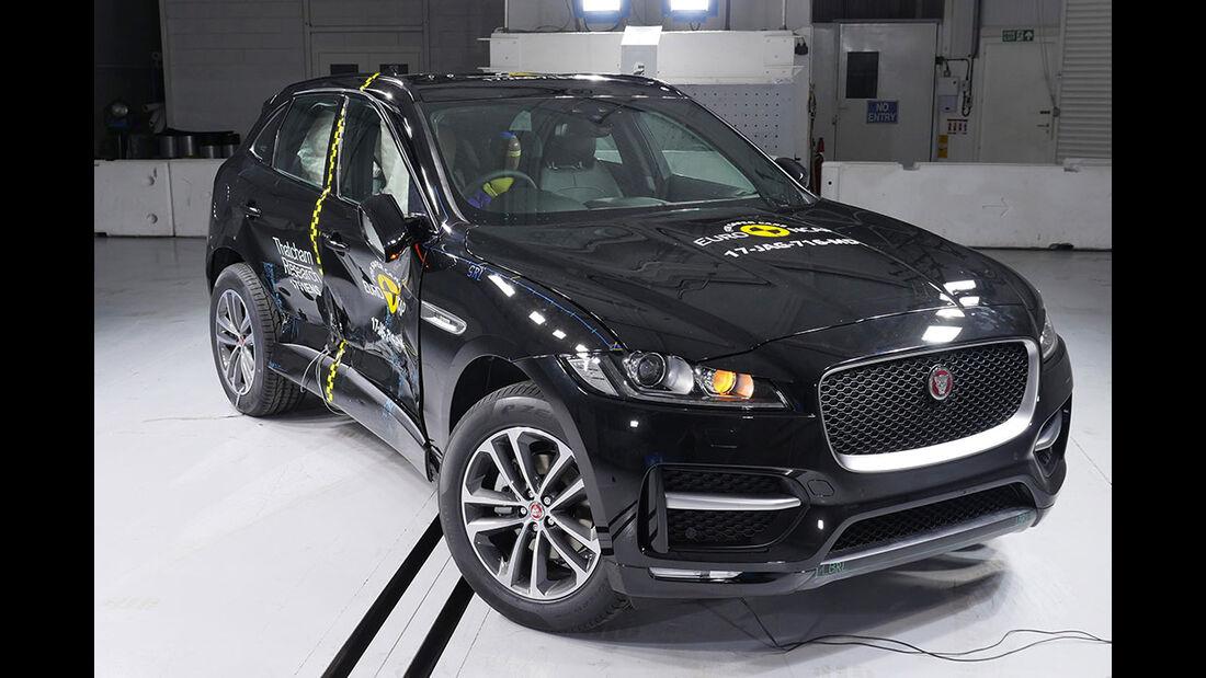 EuroNCAP Crashtest Jaguar F-Pace