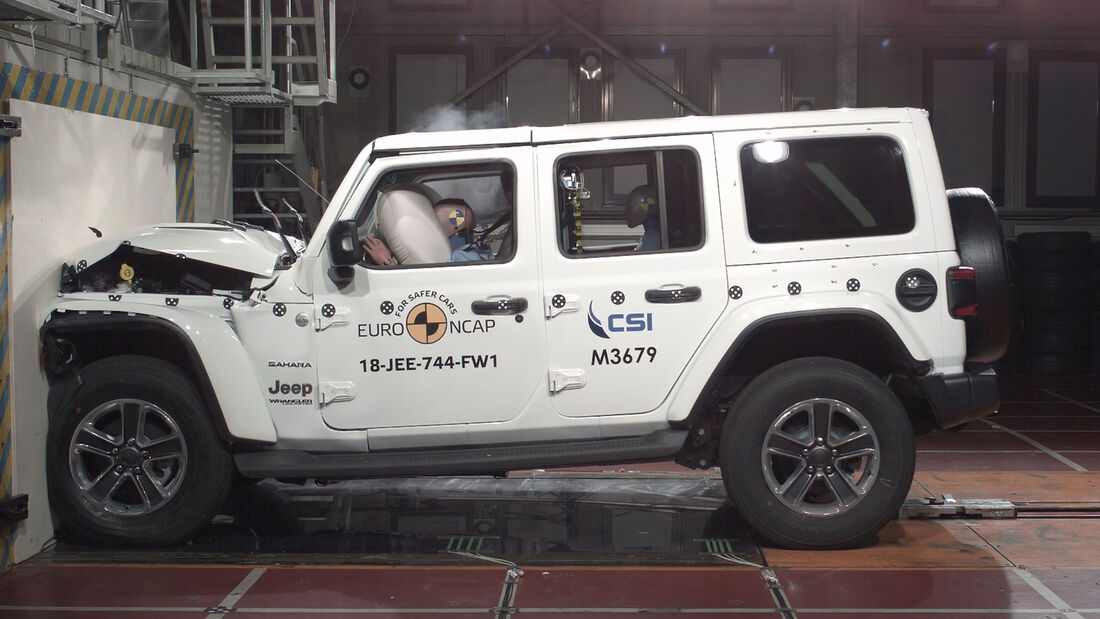 EuroNCAP Crashtest Jeep Wrangler