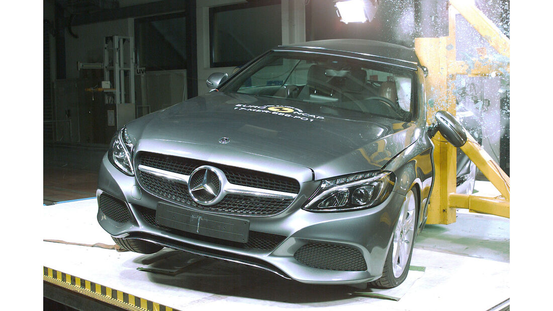 EuroNCAP-Crashtest Mercedes C-Klasse Cabrio
