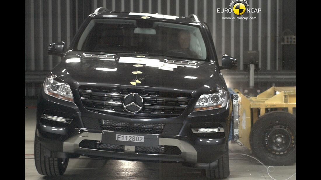 EuroNCAP-Crashtest Mercedes M-Klasse