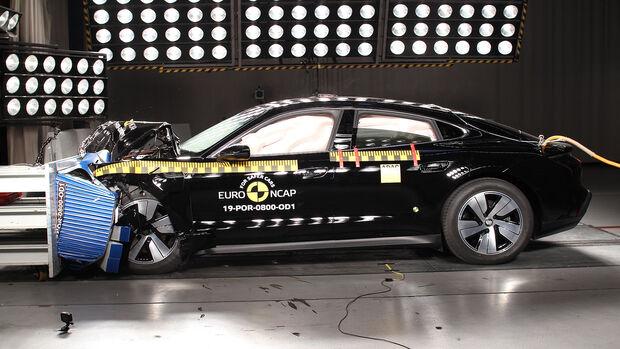 EuroNCAP Crashtest Porsche Taycan