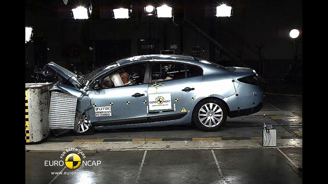 EuroNCAP-Crashtest Renault Fluence