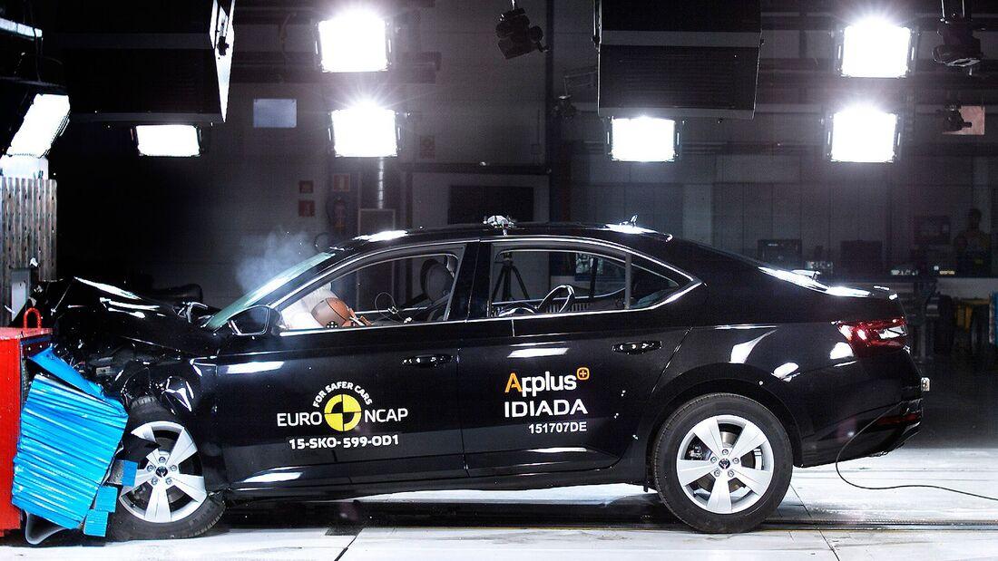 EuroNCAP-Crashtest Skoda Superb