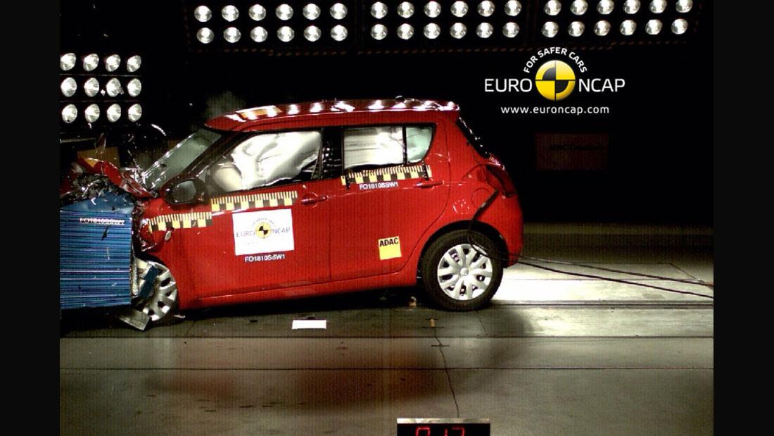 EuroNCAP-Crashtest Suzuki Swift, Frontal-Crashtest