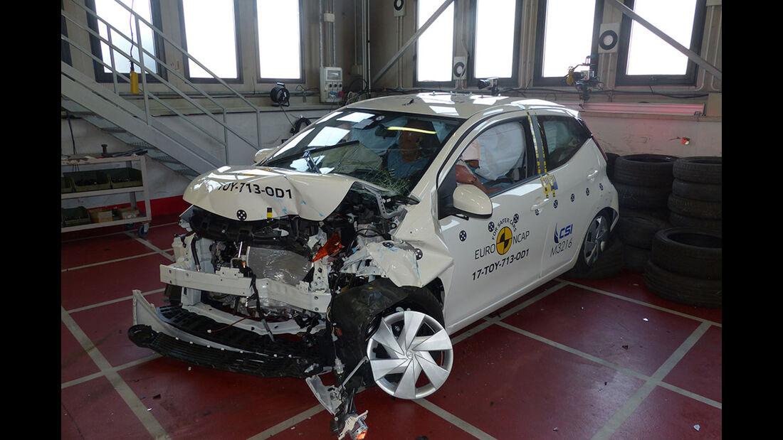 EuroNCAP Crashtest Toyota Aygo