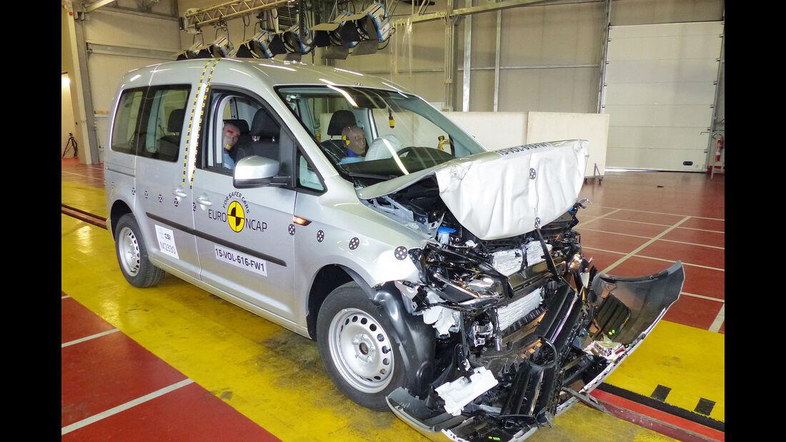 EuroNCAP-Crashtest VW Caddy