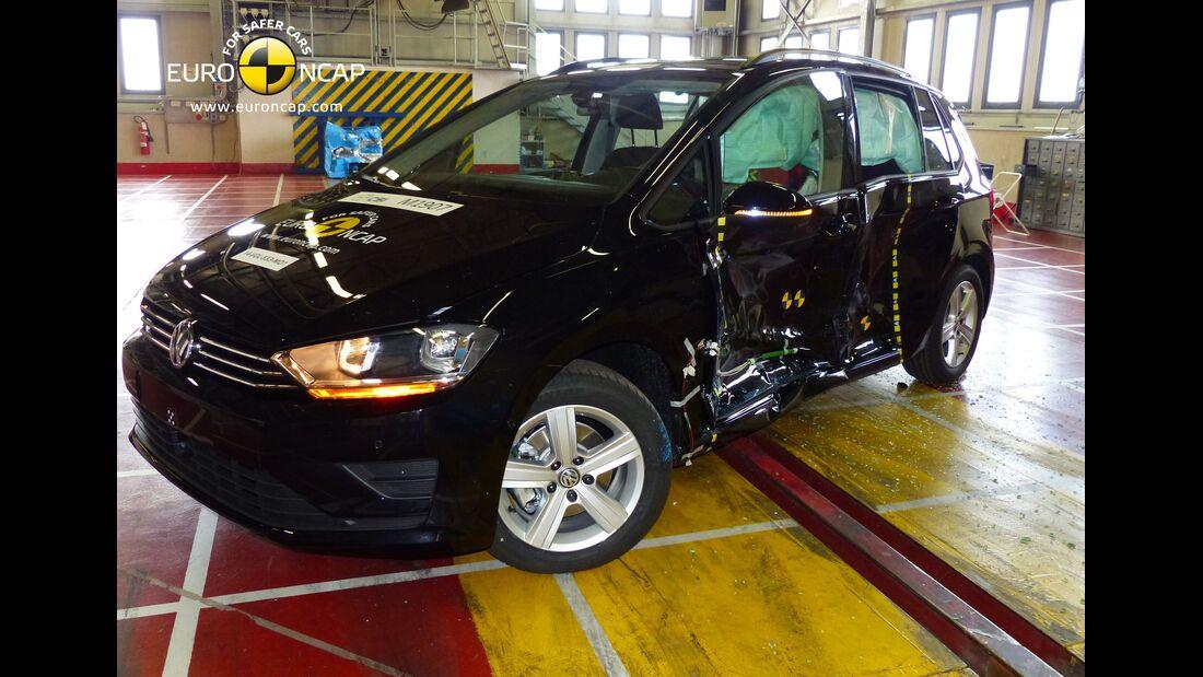 EuroNCAP-Crashtest VW Golf Sportsvan