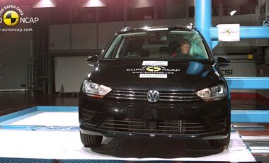 EuroNCAP-Crashtest VW Golf Sportsvan