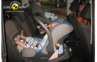 EuroNCAP-Crashtest, VW Sharan, Kindersitz-Crashtest