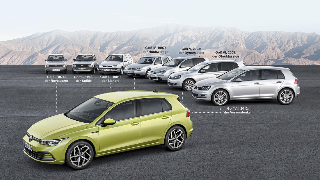 Extra VW Golf 2020, Vorgänger