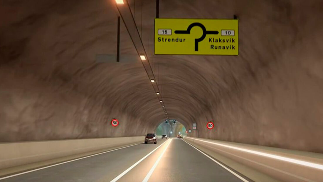 Eysturoy-Tunnel Kreisverkehr Färöer