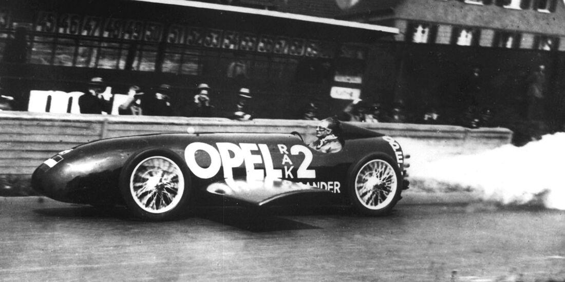 F. von Opel im RAK 2, 1928