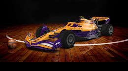 F1-Auto 2022 - NBA-Lackierung - Los Angeles Lakers