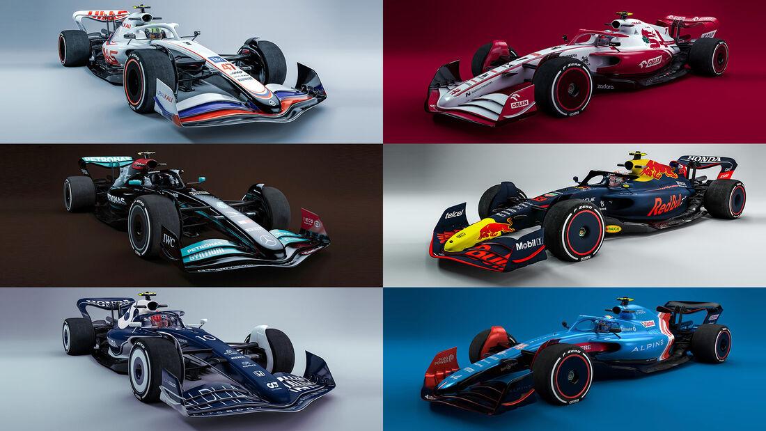 F1-Autos 2022 - Collage