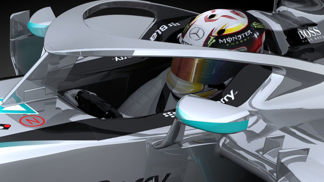 F1 Cockpitschutz - Heiligenschein - Halo-Cockpitschutz