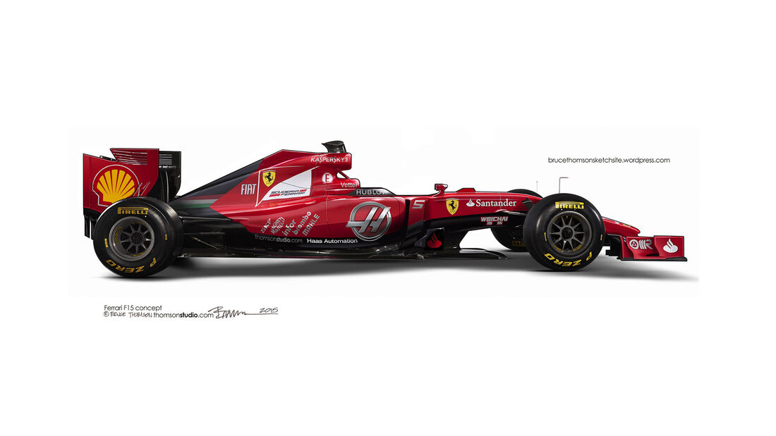 F1 Designs 2015 - Ferrari - Bruce Thomson