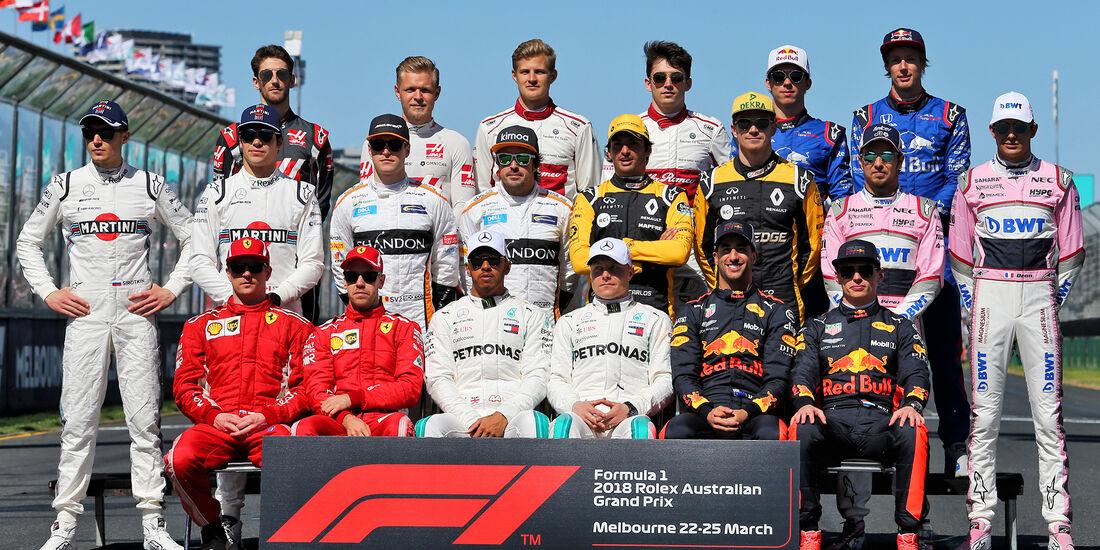 F1-Fahrer 2018 - GP Australien 2018