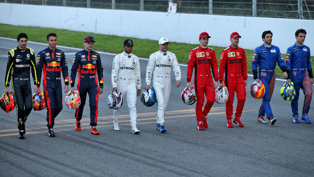 F1 Fahrer 2020 - F1-Test - Barcelona - 19. Februar 2020