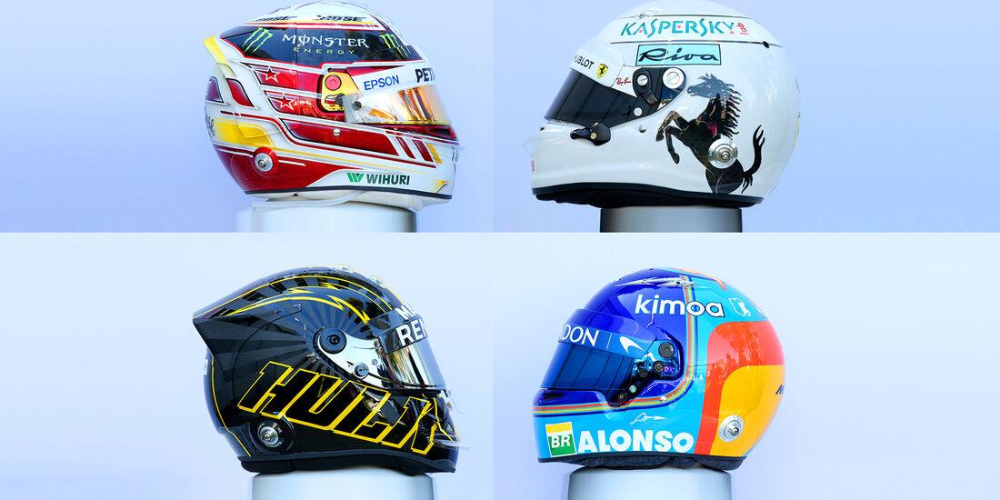 F1-Helme 2018 - Collage
