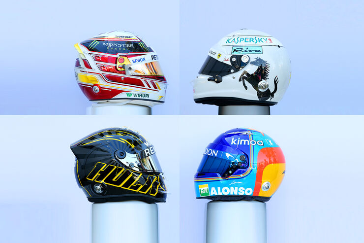 F1-Helme 2018 - Collage