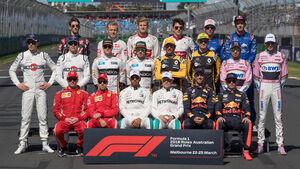 F1-Piloten 2018 - Gruppenfoto - GP Australien 2018