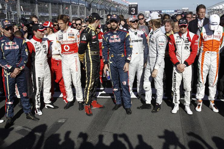 F1-Piloten GP Australien 2011