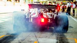 F1-Reifen - Burnout - Alpha Tauri 2021
