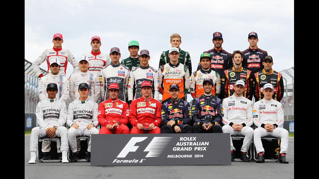 F1 Starterfeld - GP Australien 2014