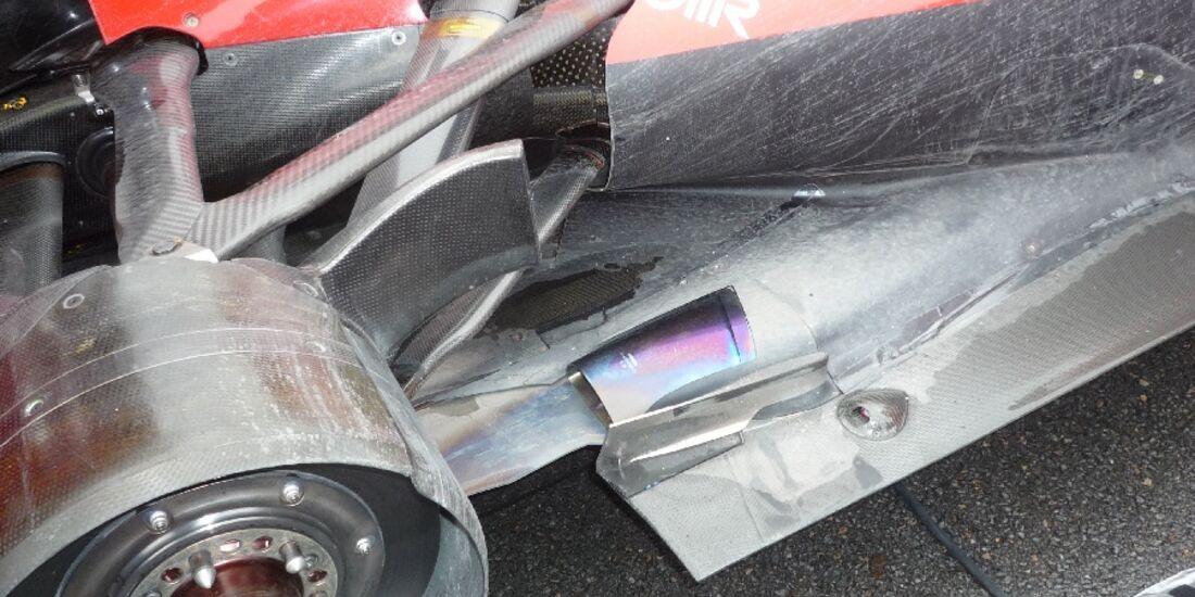 F1-Technik 2011 - Auspuff Ferrari