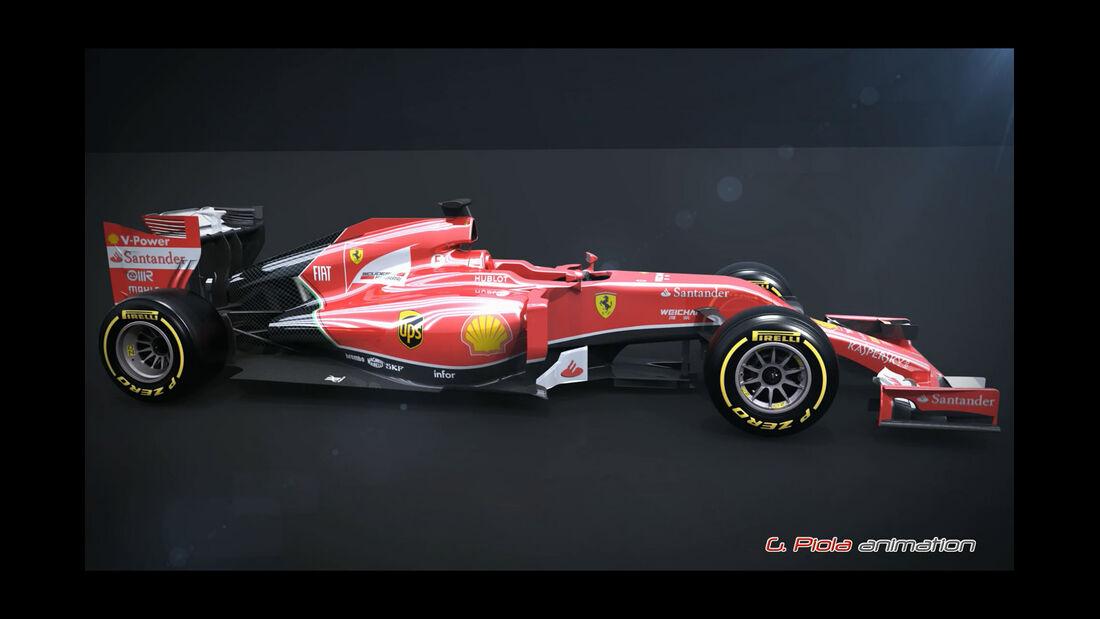 F1 Technik 2014 - Ferrari F14T
